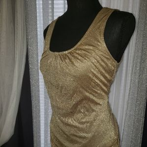 🧚♀️Gold Sequined Top🎉 Banana Republic